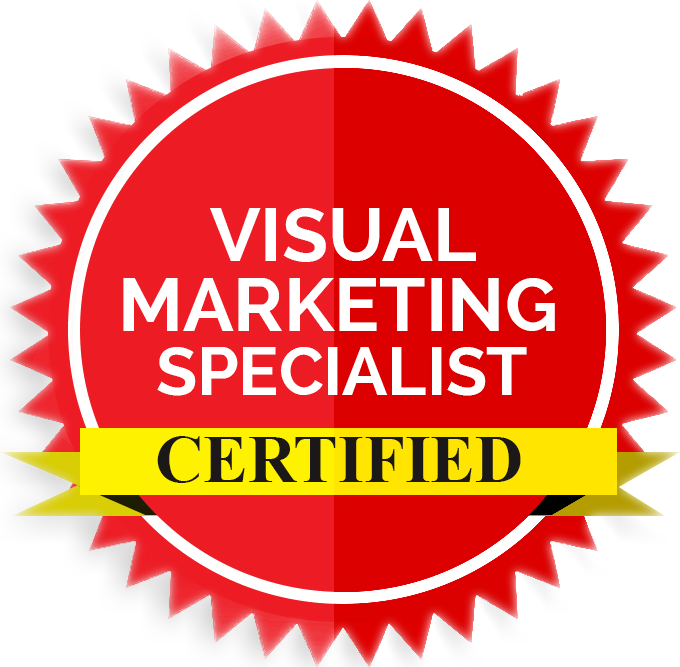 Visual Marketing Specialist Badge for Polished Tasks Pinterest Management